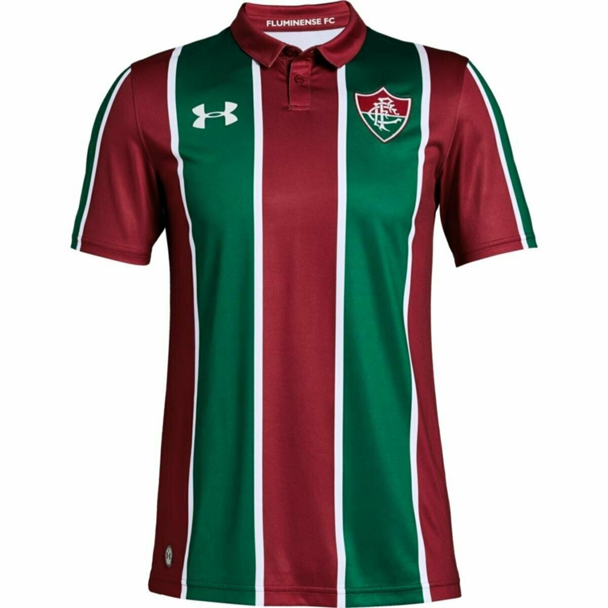 Camisa Under Armour Fluminense I 2019 Masculina - Bordô