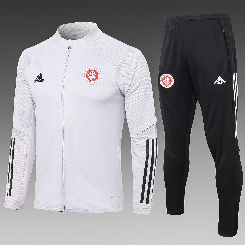 Agasalho Internacional 20/21 Adidas Branco com Zipper