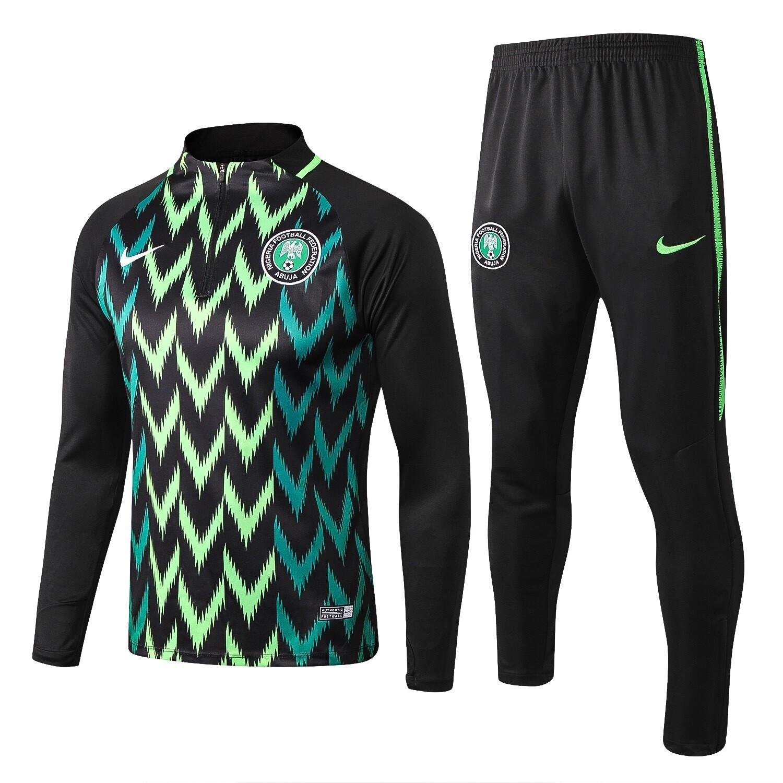 kit agasalho Treino Nigéria 2019/2020 meio zíper