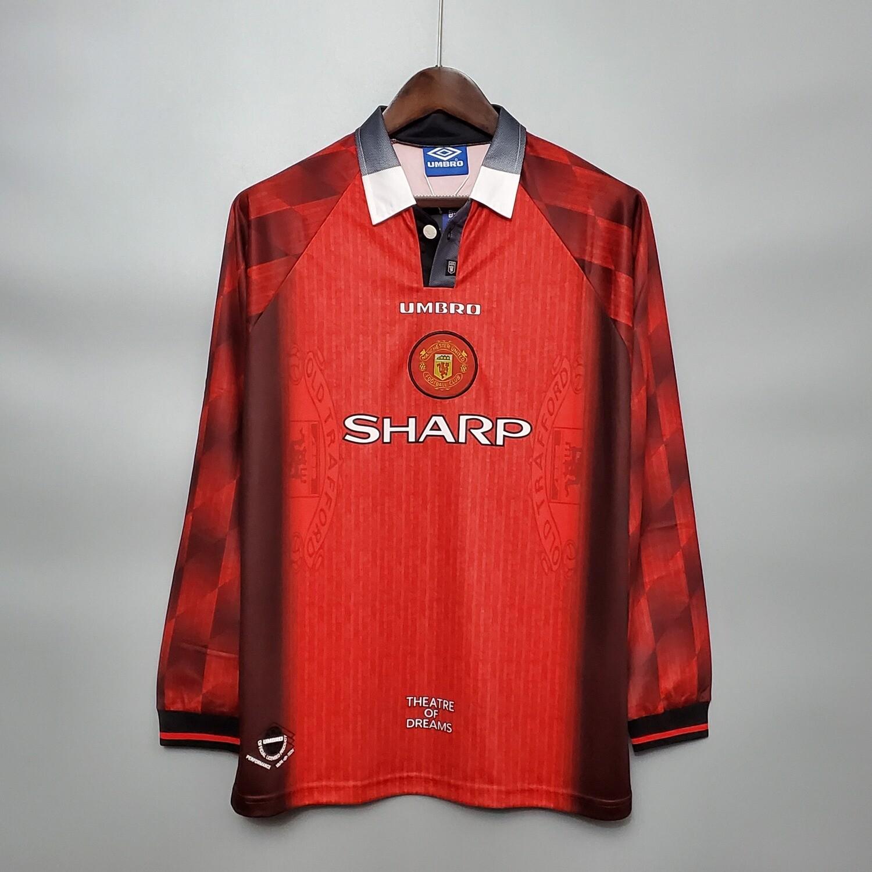 Camisa Manchester United 1996 manga longa