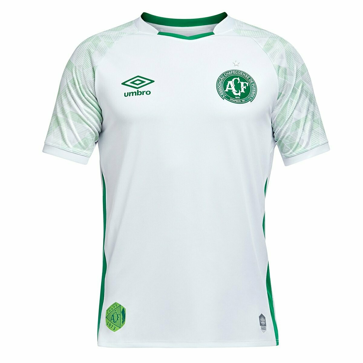 Camisa Chapecoense II 20/21  Torcedor Umbro Masculina - Branco e Verde