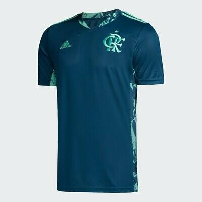 Camisa de Goleiro Flamengo I 20/21 Torcedor Adidas Masculina - Azul