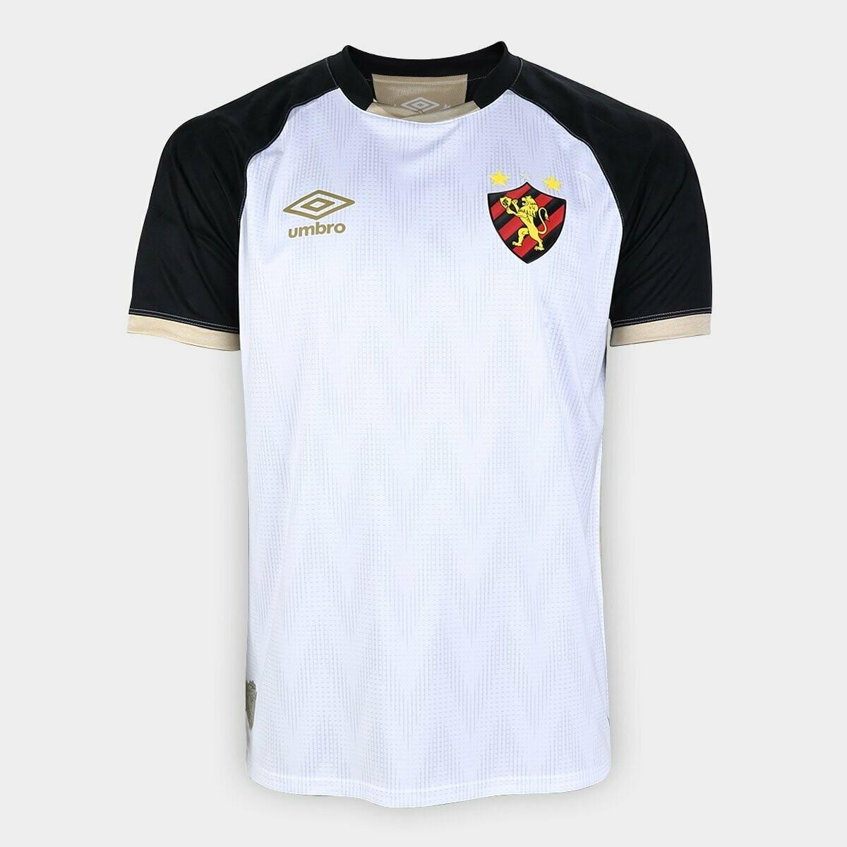 Camisa Sport Recife II 20/21  Torcedor Umbro Masculina - Branco e Preto