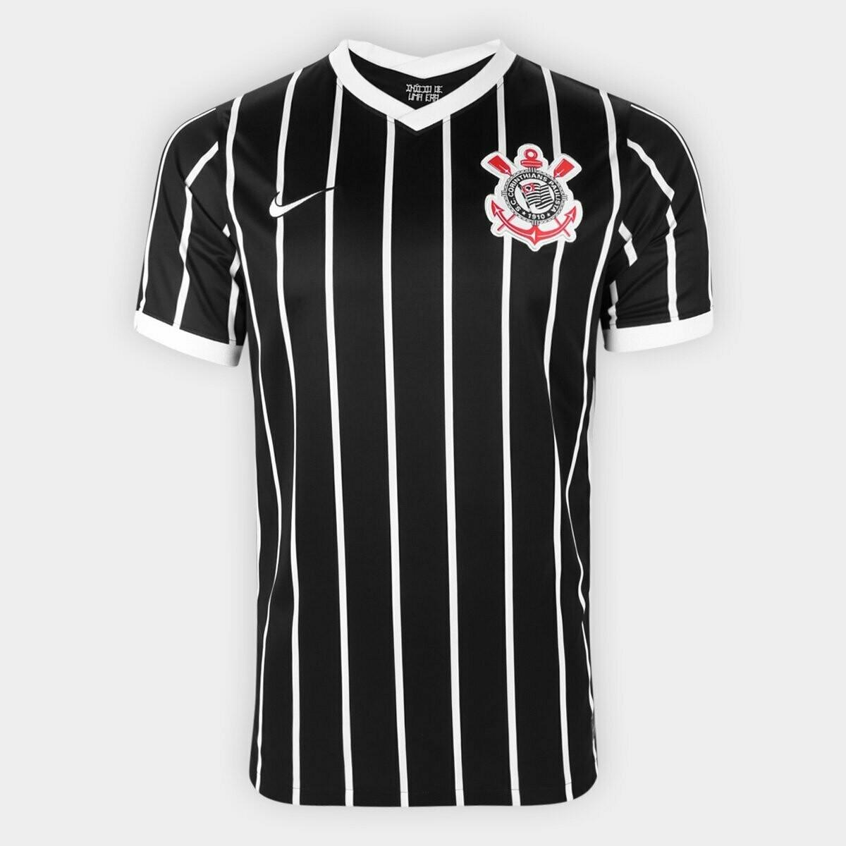 Camisa Corinthians II 20/21 Torcedor Nike Masculina - Preto e Branco