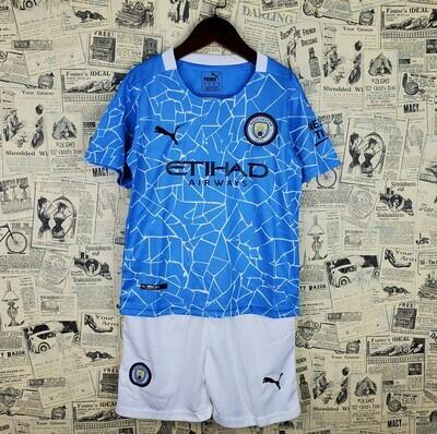Camisa Manchester City Home Infantil 2020/2021