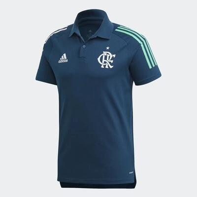 Camisa Flamengo Polo Treino Azul Adidas 2020