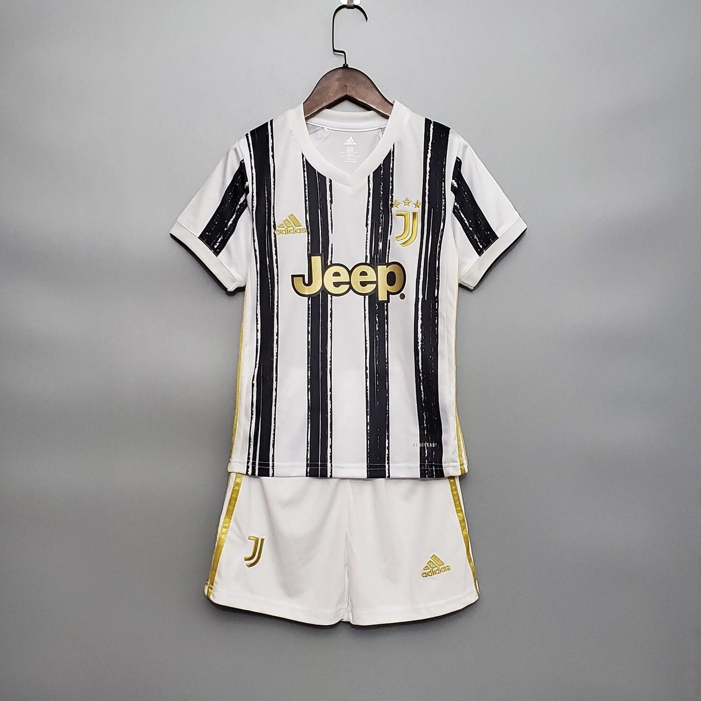 Kit Infantil Juventus I 2020/2021 Camisa + Short