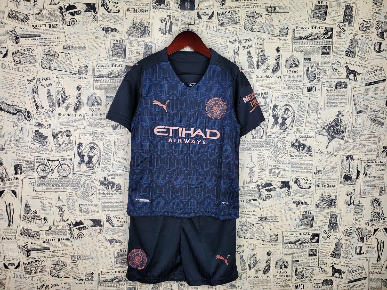 kit Camisa Manchester City  Infantil 2020/2021