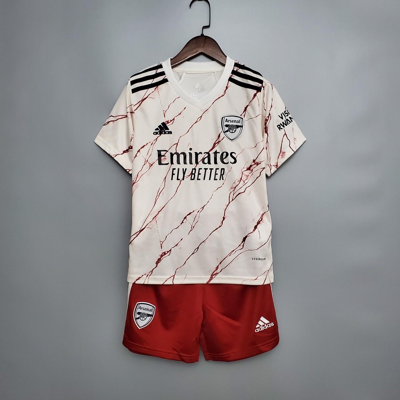Kit Infantil Arsenal 2020/2021 Camisa + Short