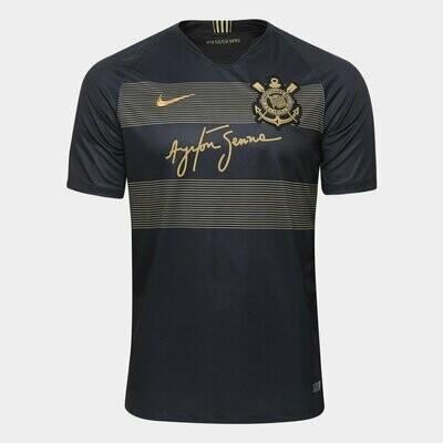 Camisa Corinthians III 2018 - Torcedor Nike Masculina - Preto e Dourado