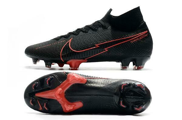 CHUTEIRA NIKE MERCURIAL SUPERFLY FG 7 ELITE - BLACK CHILLI RED