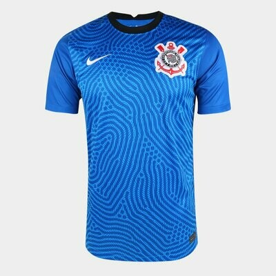 Camisa de Goleiro Corinthians 20/21  Torcedor Nike Masculina - Azul e Branco
