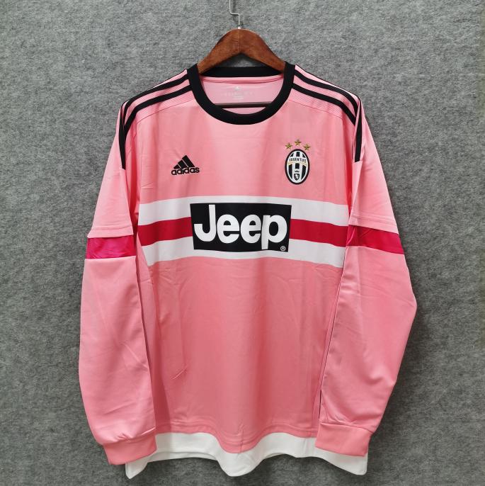 Camisa Juventus 2015 Retrô Manga Longa