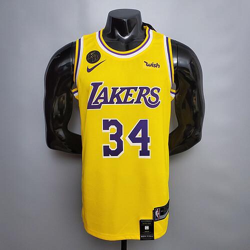 Regata O'Neal #34 Lakers Comemorativo Edition