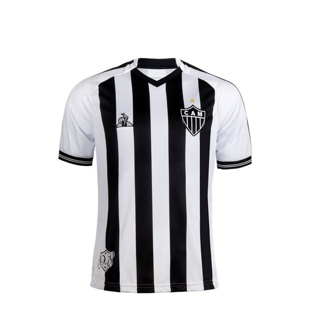 Camisa Atlético Mineiro I 2020/2021 Torcedor Le Coq Masculina - Preto e Branco
