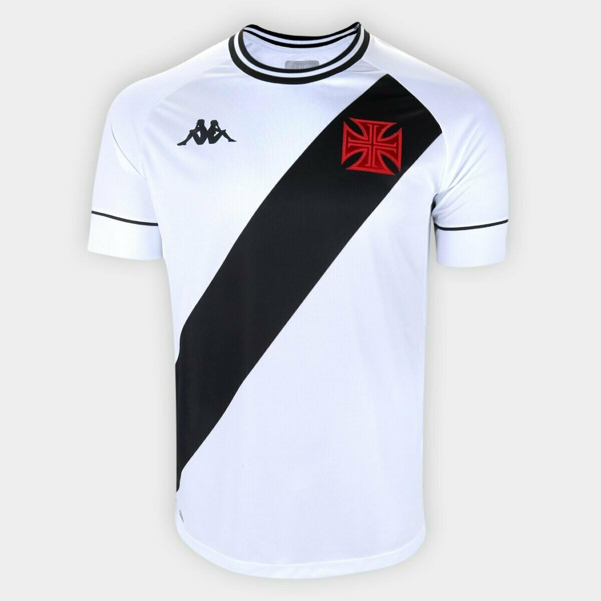 Camisa Vasco II 20/21  Torcedor Kappa Masculina - Branco e Preto