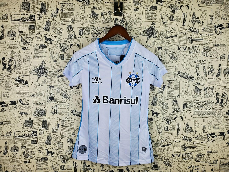 Camisa Grêmio II 20/21 Torcedor Umbro Feminina - Branco e Preto