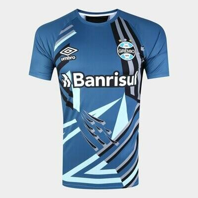 Camisa de Goleiro Grêmio 20/21 Torcedor Umbro Masculina - Azul e Preto
