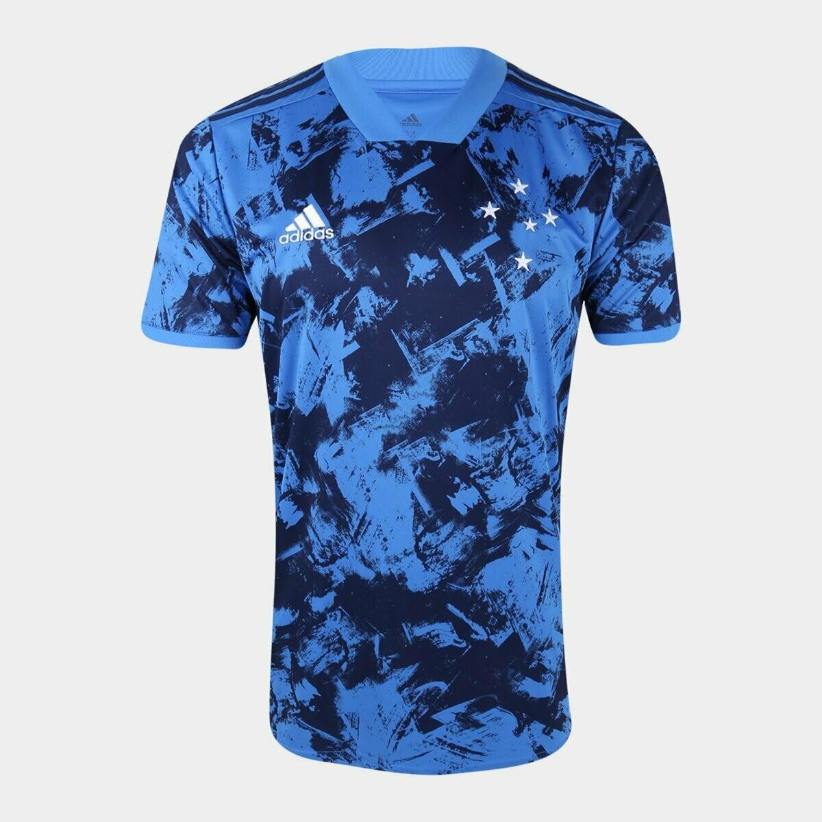 Camisa Cruzeiro III 20/21  Torcedor Adidas Masculina - Azul Escuro