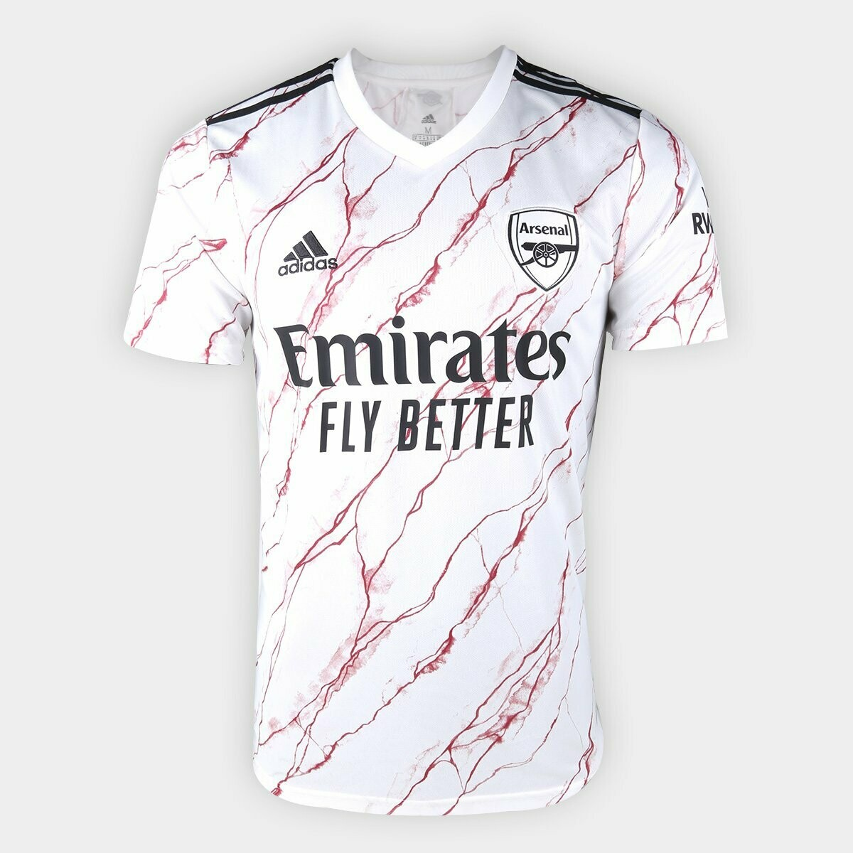 Camisa Arsenal Away 20/21 Torcedor Adidas Masculina - Branco e Preto