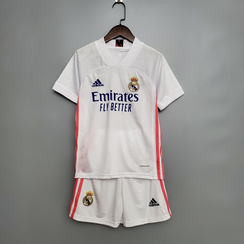 Camisa Real Madrid Home 2020/2021 Infantil