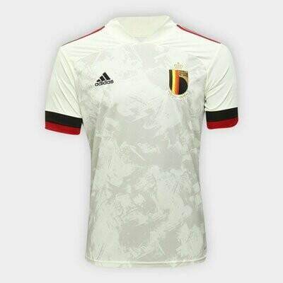 Camisa Seleção Bélgica Away 20/21  Torcedor Adidas Masculina - Branco