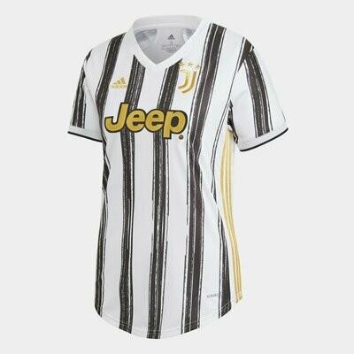 Camisa Juventus Home 20/21 Torcedor Adidas Feminina  - Branco e Preto