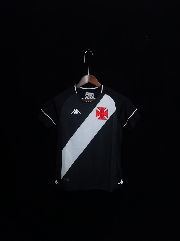 Camisa Vasco I 20/21  Torcedor Kappa Feminina - Preto e Branco