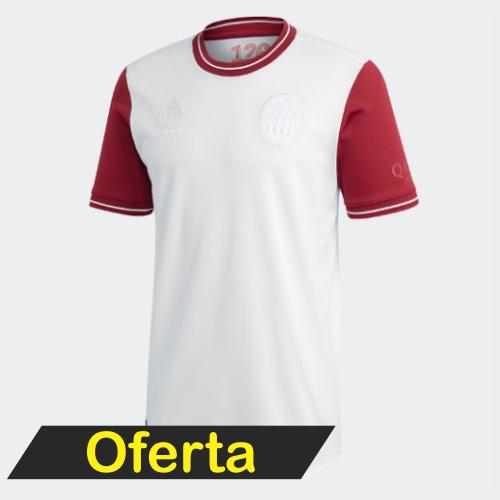 Camisa Bayern de Munique 120 anos Torcedor Adidas Masculina Neuer N 1 - Branco Pronta Entrega