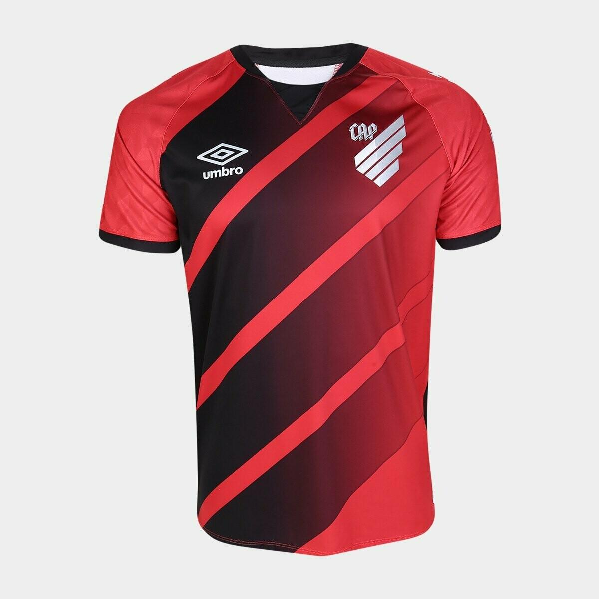 Camisa Athletico Paranaense I 20/21 Umbro Masculina - Vermelho e Prata