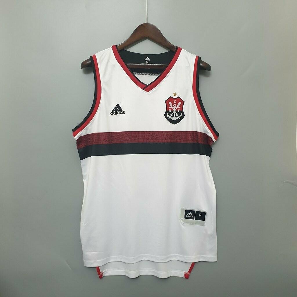 Regata Branca Flamengo Basquete  Adidas 19/20