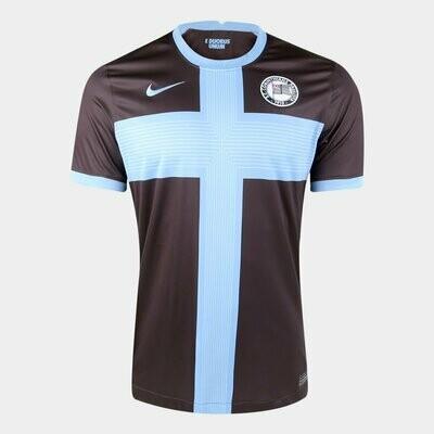 Camisa Corinthians III 20/21 Torcedor Nike Masculina - Marrom e Azul
