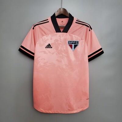 Camisa São Paulo Outubro Rosa 20/21  Torcedor Adidas Masculina - Rosa e Preto