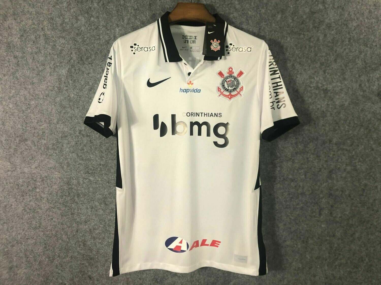 Camisa do Corinthians I 2020 Nike - Masculina Patrocínios