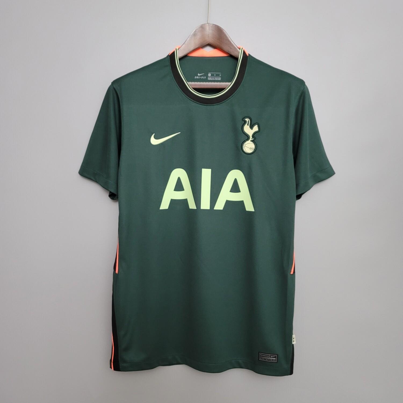 Camisa Tottenham Away 20/21 Torcedor Nike Masculina - Verde e Amarelo