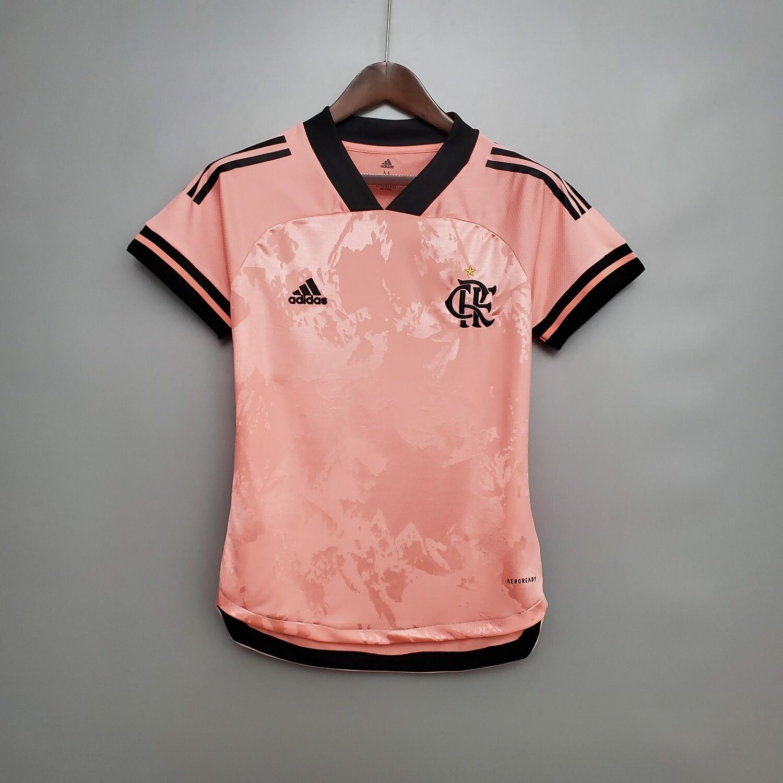 Camisa Flamengo Feminina Outubro Rosa Adidas 2020/2021