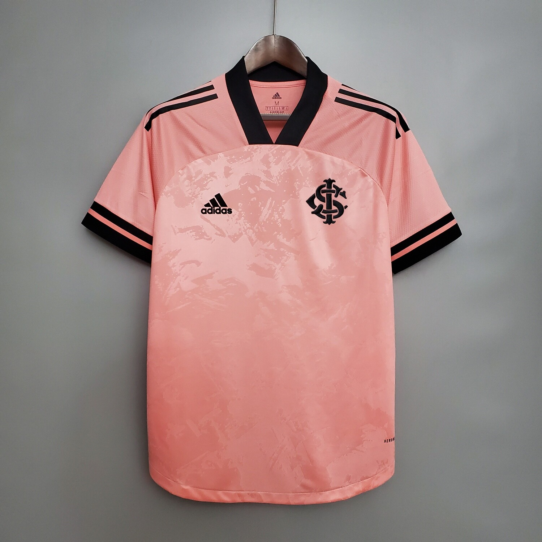 Camisa Internacional Outubro Rosa 20/21 Torcedor Adidas Masculina - Rosa e Preto