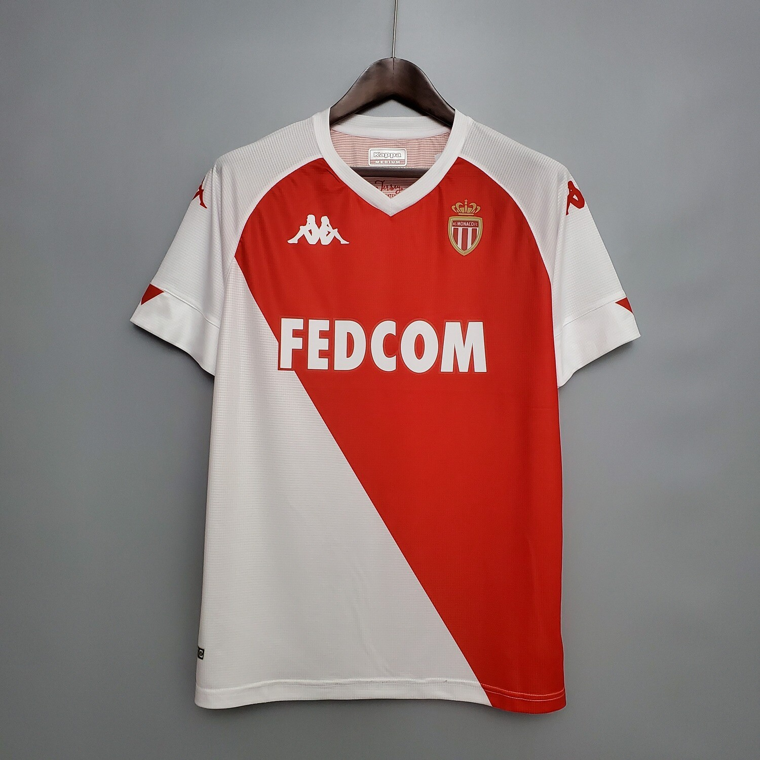 Camisa AS Mônaco Home 2020-2021 Kappa