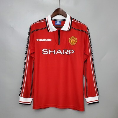 Camisa Manchester United Manga Longa  98/99