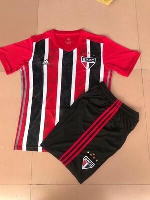 Conjunto Infantil (Camisa + Shorts) São Paulo 2020-21 (Away-Uniforme 2)