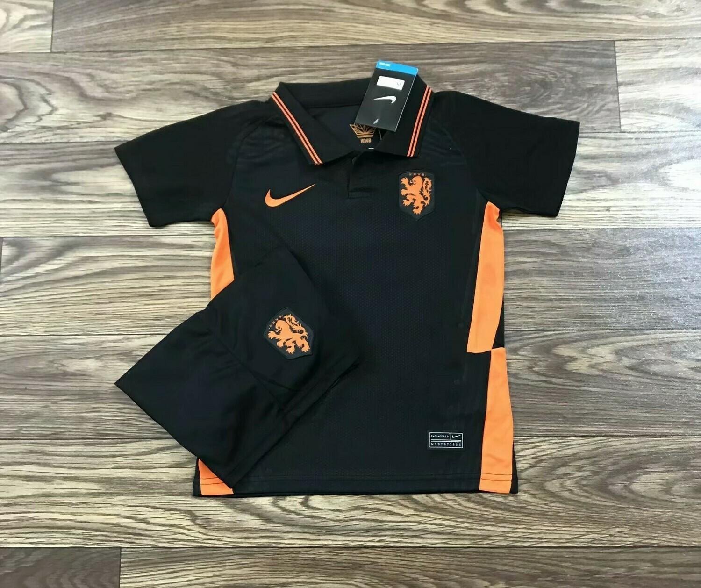 Camisa da Holanda Preta Away 2020/2021 Infantil