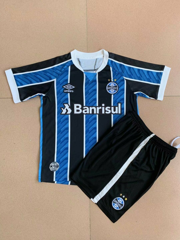 Conjunto Infantil (Camisa + Shorts) Grêmio 2020-21 (Uniforme 1)