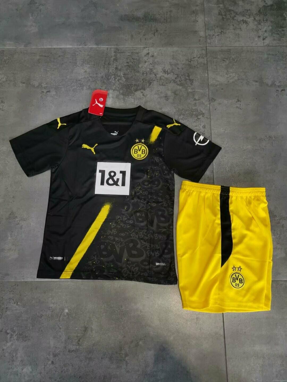 Conjunto Infantil Borussia Dortmund  Puma 2020/2021 uniforme 2