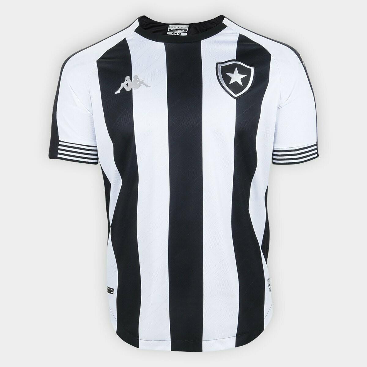 Camisa Botafogo I 20/21 Torcedor Kappa Masculina - Preto e Branco