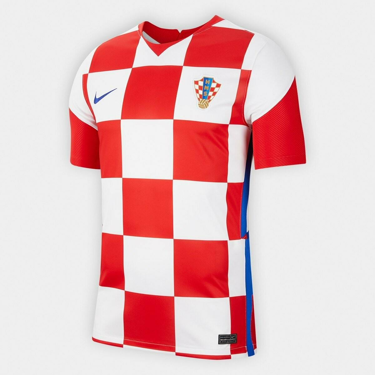 Camisa Seleção Croácia Home 20/21  Torcedor Nike Masculina - Branco e Vermelho