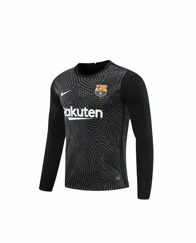Camisa Barcelona Nike Goleiro  - Masculina Manga Longa 2020/2021 Preto