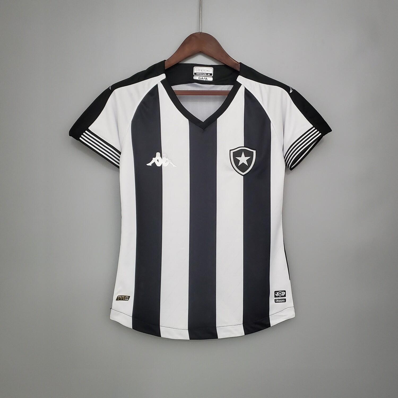 Camisa Botafogo I 2020/2021 Torcedor Kappa Feminina - Preto e Branco
