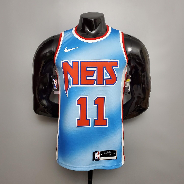 Regata NBA Brooklyn Nets  IRVING # 11  Retro Edição Limitada Azul