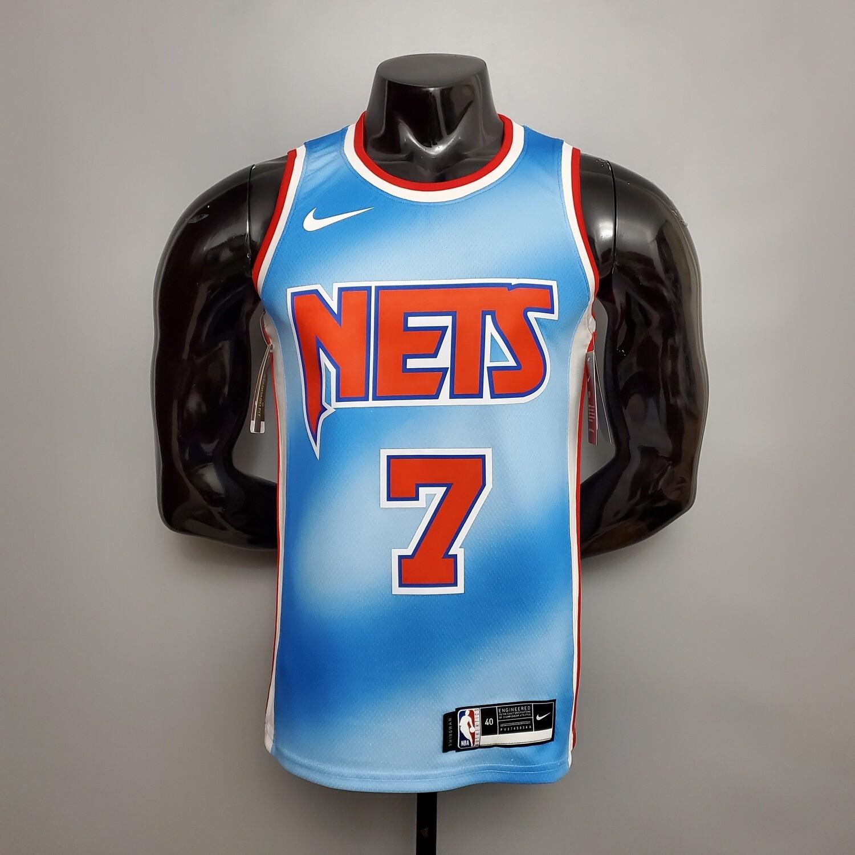 Regata NBA Brooklyn Nets DURANT # 7 Retro Edição Limitada Azul
