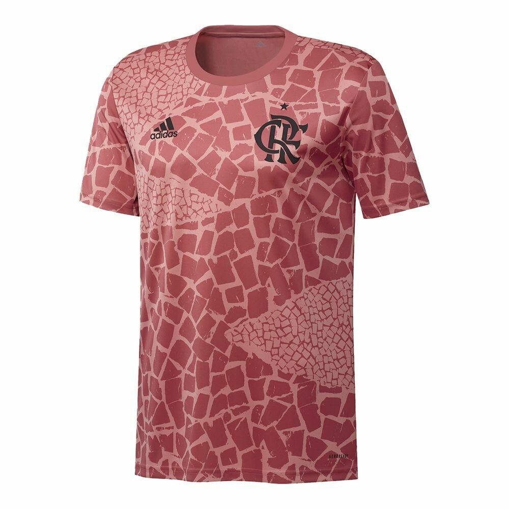 Camisa Flamengo Pré-Jogo 20/21 Adidas Masculina - Rosê